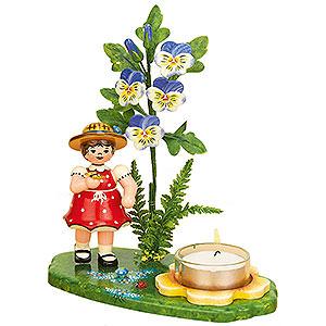 Kleine Figuren & Miniaturen Hubrig Blumenkinder Lichterhalter Mädchen Hornveilchen - 15x17cm