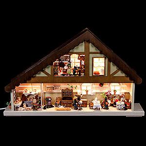 Lichterwelt Lichterhäuser Lichterhaus Handarbeitsstube - 60x38cm