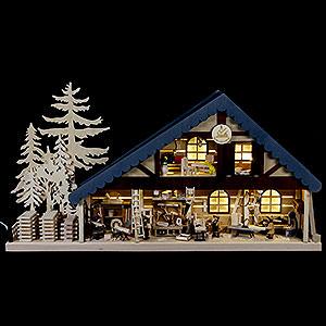 Lichterwelt Lichterhäuser Lichterhaus Tischlerei - 70x38x8cm