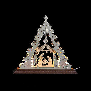 Lichterwelt Lichterspitzen Lichterspitze - Mini-Tanne Christi Geburt - 23x20x4cm