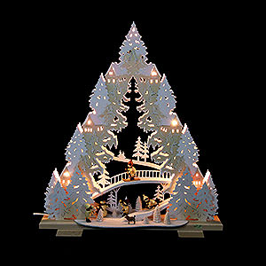 Lichterwelt Lichterspitzen Lichterspitze - Rodeln auf dem Ziegenberg - 44x50x11cm