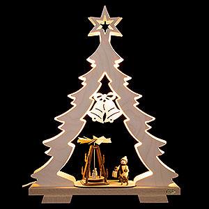 Lichterwelt Lichterspitzen Lichterspitze Tanne Adventsidylle, LED - 32x43x7,5 cm