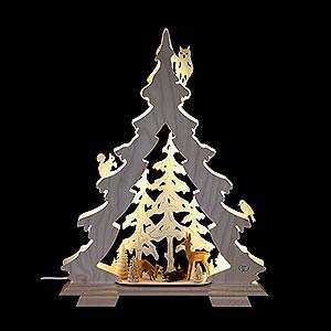 Lichterwelt Lichterspitzen Lichterspitze Tanne Waldidylle - 32x42x7,5 cm