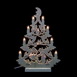 Lichterwelt Lichterspitzen Lichterspitze - Tannenbaum beidseitig - 47 x 34 x 5,5 cm