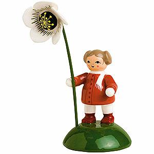 Kleine Figuren & Miniaturen Blumenkinder Mädchen mit Christrose - 6 cm