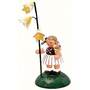 Kleine Figuren & Miniaturen Blumenkinder Mädchen mit Glockenblume - 6 cm