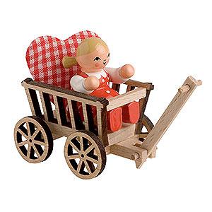 Kleine Figuren & Miniaturen alles Andere Mädchen mit Handwagen - 5 cm