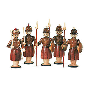 Small Figures & Ornaments Manger-Figurines (Müller) Manger-figurines - 5 Soldiers - 13 cm / 5 inch
