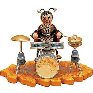 Kleine Figuren & Miniaturen Tiere K�fer Marienk�fer mit Schlagzeug - 8cm