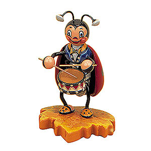 Kleine Figuren & Miniaturen Tiere Käfer Marienkäfer mit Trommel - 8cm