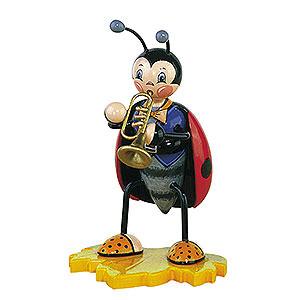 Kleine Figuren & Miniaturen Tiere K�fer Marienk�fer mit Trompete - 16 cm