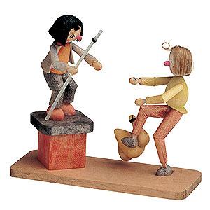 Kleine Figuren & Miniaturen M�rchenfiguren Wilhelm Busch (KWO) Max und Moritz mit H�hnchen - 8 cm