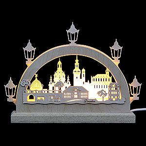 Schwibbögen Laubsägearbeiten Mini LED Schwibbogen - Dresden - 23 x 15 x 4,5 cm