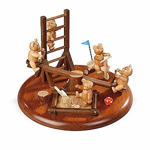 Spieldosen Alle Spieldosen Motivplattform für elektr. Spieldose - Bärenspielplatz - 15 cm