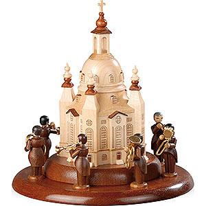 Spieldosen Alle Spieldosen Motivplattform f�r elektr. Spieldose - Blechbl�serensemble an der Frauenkirche - 15cm