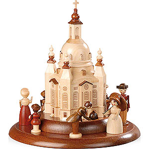 Spieldosen Alle Spieldosen Motivplattform für elektr. Spieldose - Historische Figuren an der Frauenkirche - 15cm
