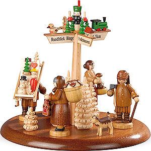 Spieldosen Alle Spieldosen Motivplattform für elektr. Spieldose - Seiffen - 13 cm