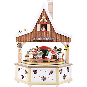 Music Boxes Angels Music Box Angel bakery - 13 inch - 34 cm