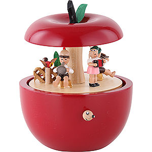 Music Boxes Misc. Motifs Music Box Apple child concert - 6 inch - 14 cm