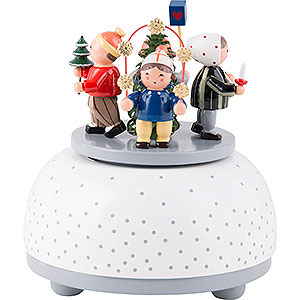 Music Boxes Seasons Music Box Children in Winter - 12 cm / 5 inch
