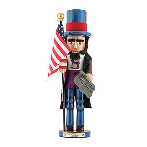 Nussknacker Bekannte Personen Nussknacker Abraham Lincoln - Limitierte Edition - 48 cm
