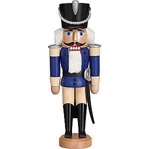 Nussknacker Soldaten Nussknacker Husar Esche lasiert blau - 28cm