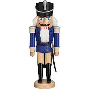 Nussknacker Soldaten Nussknacker Husar Esche lasiert blau - 37 cm