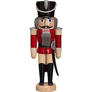 Nussknacker Soldaten Nussknacker Husar lasiert rot - 28 cm