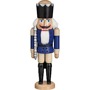 Nussknacker Könige Nussknacker König Esche blau lasiert - 39cm