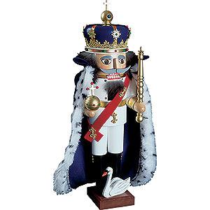 Nussknacker Bekannte Personen Nussknacker König Ludwig II mit Umhang - 52 cm