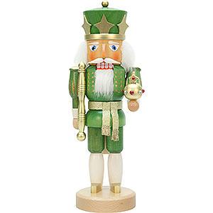 Nussknacker Könige Nussknacker König grün/gold lasiert - 37,5cm