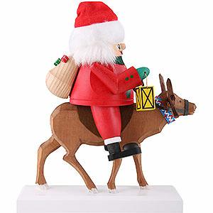 Nussknacker Weihnachtsm�nner Nussknacker Santa auf Rentier - 26 cm