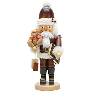 Nussknacker Weihnachtsm�nner Nussknacker Weihnachtsmann mit Teddy natur - 44,0 cm