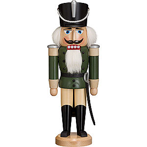 Nutcrackers Soldiers Nutcracker - Hussar - Ash -  Green - 37 cm / 15 inch