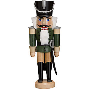 Nutcrackers Soldiers Nutcracker Hussar - Ash -  green - 28 cm / 11 inch