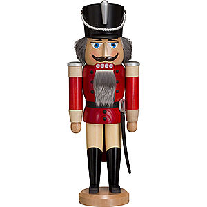 Nutcrackers Soldiers Nutcracker Hussar - Ash -  red - 37 cm / 15 inch