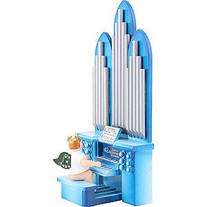 Weihnachtsengel Orchester mit Krone (Ellmann) Orgel mit Engel mit Krone und Spielwerk - 6,5 cm