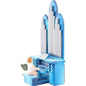 Weihnachtsengel Orchester (Ellmann) Orgel mit Engel und Spielwerk - 6,5 cm