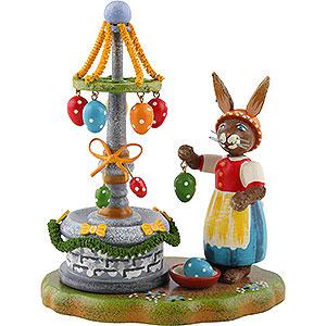 Kleine Figuren & Miniaturen Hubrig Hasenland Osterbrunnen - 10cm