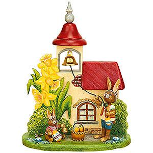 Kleine Figuren & Miniaturen Tiere Hasen Osterglockenläuten - 14x18cm