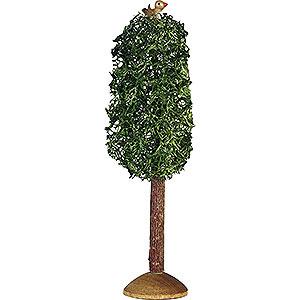 Weihnachtsengel Günter Reichel Dekoration Pappel klein mit Vogel, 3 Stück - 9,5cm
