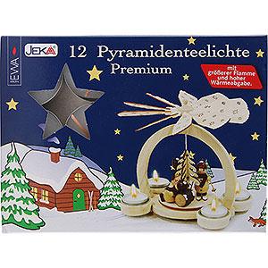 Weihnachtspyramiden Zubehör & Kerzen Pyramiden-Teelichter Premium, 12 Stück