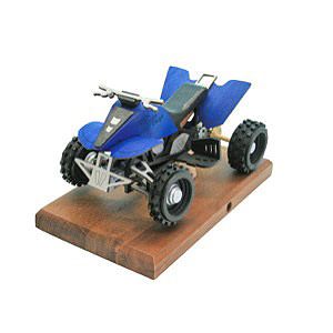 Räuchermänner Hobbies Räucher-Quad in blau 22 x 13 x13 cm