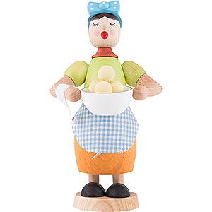 Räuchermänner Sonstige Figuren Räucherfrau mit Klösen - 17 cm