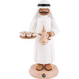 Räuchermänner Hobbies Räuchermännchen Araber mir rauchender Kaffeekanne und Tassen - 27cm