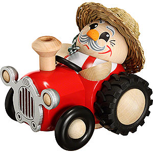 Räuchermänner Berufe Räuchermännchen Bauer im Traktor - 10cm