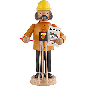Räuchermänner Berufe Räuchermännchen Bauleiter - 17cm