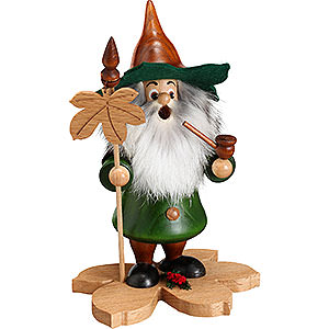 Räuchermänner Sonstige Figuren Räuchermännchen Baumwichtel Kastanienblatt - 18cm