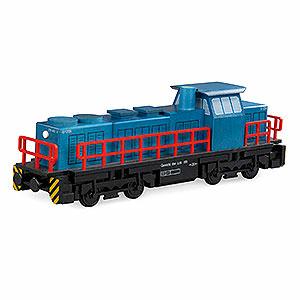 Räuchermänner Sonstige Figuren Räuchermännchen Diesellokomotive - 25x6x8 cm