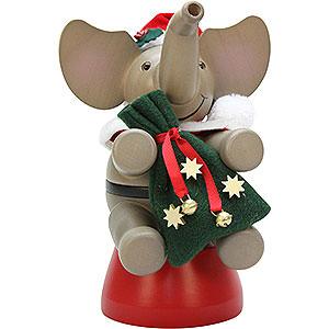 Räuchermänner Weihnachtsmänner Räuchermännchen Elefant Weihnachtsmann - 20,0cm